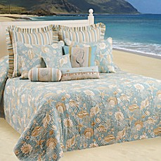 image of Natural Shells Bedspread, 100% Cotton