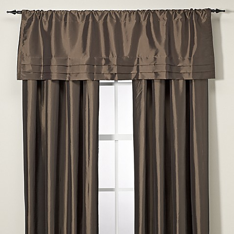 Buy Argentina Tailored Valance In Chocolate From Bed Bath Beyond