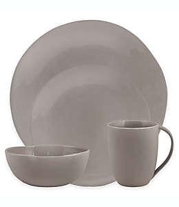 Vajilla en gris, Curve Artisanal Kitchen Supply® 16 piezas