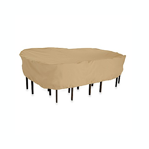 Classic Accessories 174 Terrazzo Patio Rectangle Oval Table