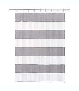 Cortina de baño de algodón Donald Calvin Klein color blanco y negro