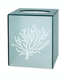 Dispensador de pañuelos desechables Saturday Knight con diseño de coral en aqua