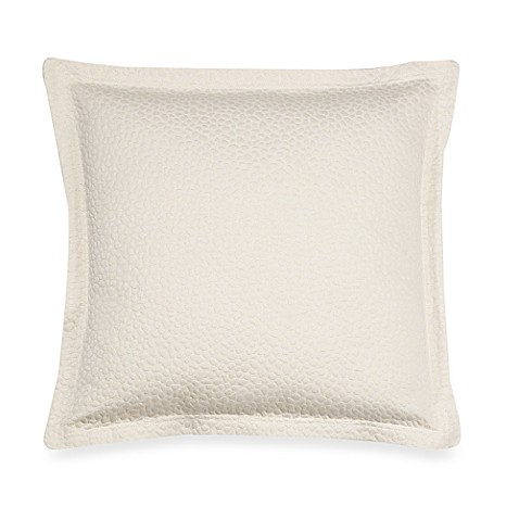 Barbara Barry Beautiful Basics Cloud Nine 18-Inch Square Throw Pillow in Pearl