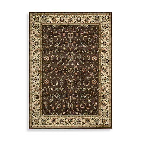 Nourison Persian Arts Kashan 2-Foot 3-Inch x 12-Foot Runner in Chocolate