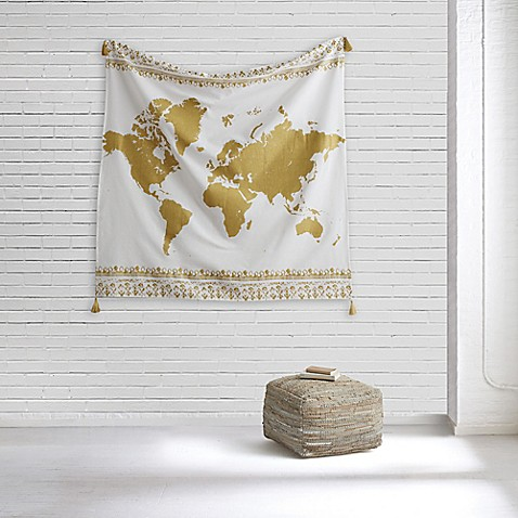 Style co op world map tapestry bed bath beyond style co opreg world map tapestry gumiabroncs Image collections