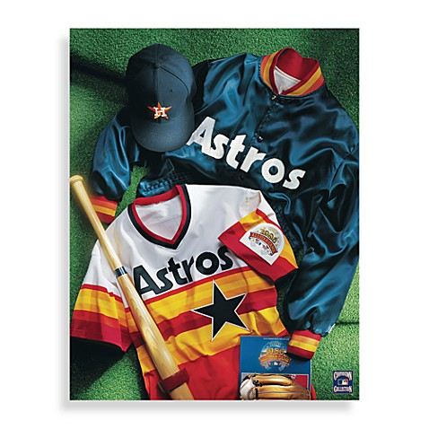Mlb Houston Astros Vintage Collage Canvas Wall Art Bed