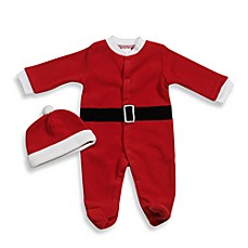 image of babyGEAR™ Santa Fleece Footie
