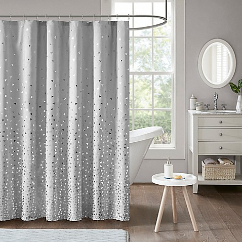 Buy intelligent design zoey shower curtain in grey silver - Intelligent shower ...