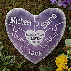image of Together We Make A Family Heart Garden Stone