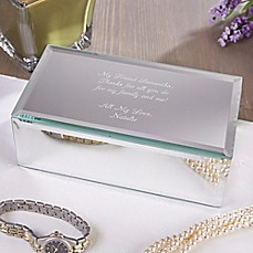 image of Write Your Own Engraved Mirrored Jewelry Box