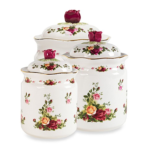 Royal Albert Canisters in Old Country Roses (Set of 3)