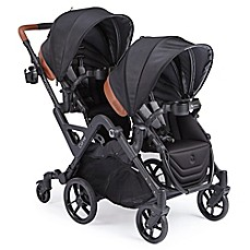 image of Contours® Curve Double Stroller in Jet Black