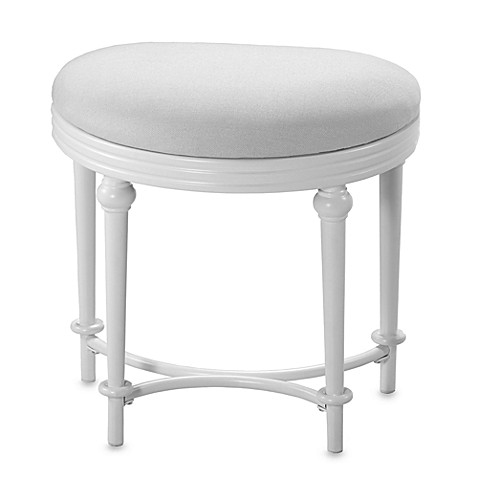 image of hillsdale hampton kidney shape vanity stool