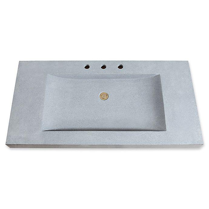 Avanity 43 Inch Stone Integrated Sink Vanity Top Bed Bath Beyond