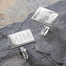 image of Herrington Collection Engraved Silver Cufflinks