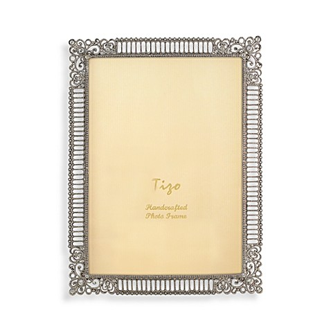 Tizo Silver Jeweled Bridal Heart 5-Inch x 7-Inch Picture Frame