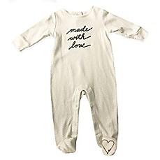 "image of ED Ellen DeGeneres ""Made with Love"" Footie in Ivory"