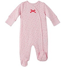 image of Absorba Star Footie in Pink
