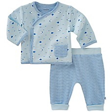 image of Absorba® 2-Piece Fish Kimono Shirt and Pant Set in Blue