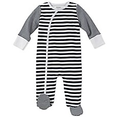 image of Absorba® Striped Footie in Navy