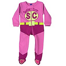 image of Sozo® Super Cute Footed Romper in Pink