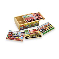 image of Melissa & Doug® Vehicles Jigsaw Puzzles In A Box (Set of 4 Puzzles)