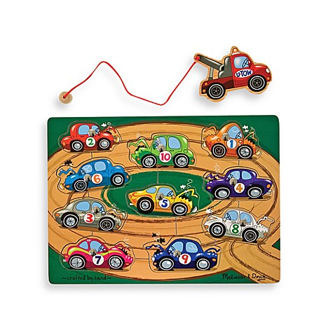 Melissa & Doug® Tow Truck Magnetic Puzzle Game