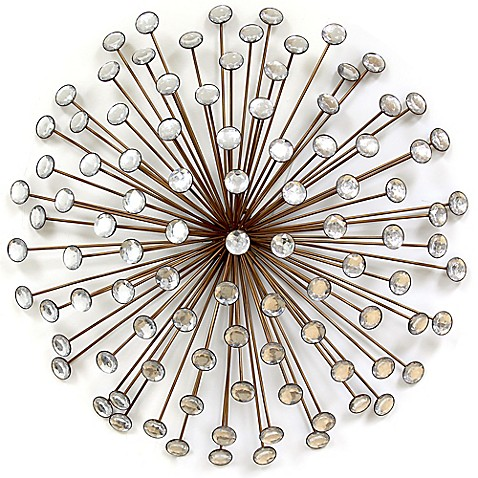 Stratton Home Decor Acrylic Burst Wall Sculpture In Bronze