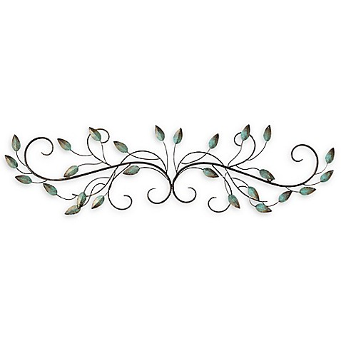 stratton home d cor patina scroll leaf wall art bed bath beyond