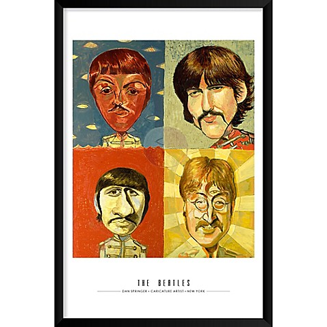 Artography Limited The Beatles 25-Inch x 37-Inch Wall Art - Bed Bath ...
