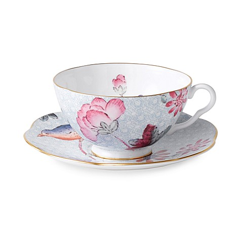 Wedgwood® Harlequin Cuckoo Teacup & Saucer in Blue