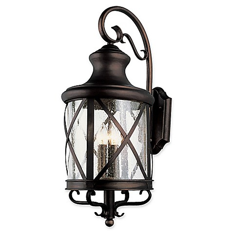 Bel Air Lighting Chandler 1 Light Wall Lantern In Rubbed Oil Bronze