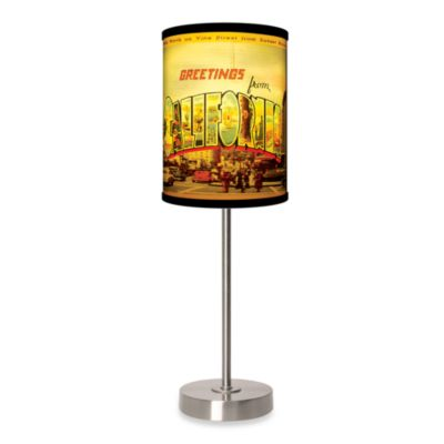 image of California Table Lamp with Brushed Nickel Base