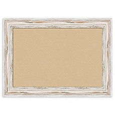image of Amanti Art Alexandria Cork Board with Whitewash Frame in Beige