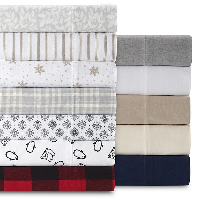 The Seasons Collection® HomeGrown™ Flannel Sheet Set | Bed Bath