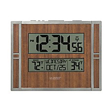 image of La Crosse Technology Faux Wood Atomic Clock