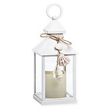 image of Coastal Shells LED Lantern in White