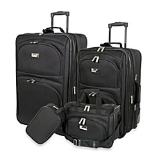 image of Geoffrey Beene 4-Piece Luggage Set in Black