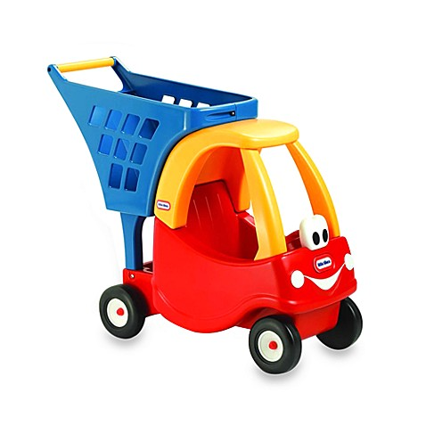Playsets little tikes cozy shopping cart in red yellow for Little tikes 2 in 1 buildin to learn motor workshop