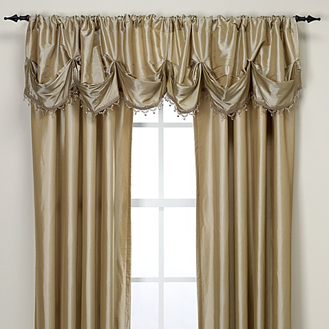 Argentina Tuck Valance With Beaded Trim Bed Bath Amp Beyond