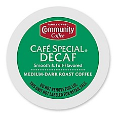 image of 18-Count Community Coffee® Café Special Decaf for Single Serve Coffee Makers