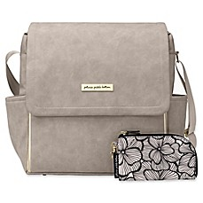 image of Petunia Pickle Bottom® Boxy Backpack Diaper Bag in Grey Matte Leatherette