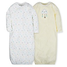 image of Gerber® 2-Pack Cloud Gowns in Teal/Yellow