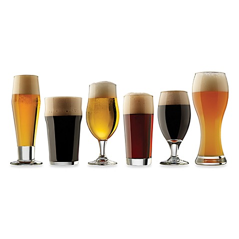 dailyware craft brew beer tasting glasses set of 6