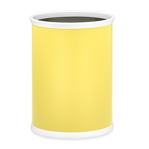Kraftware™ Bartender's Choice Oval Wastebasket in Yellow