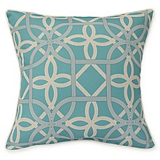 image of Commonwealth Home Fashions Keene Square Indoor/Outdoor Throw Pillow