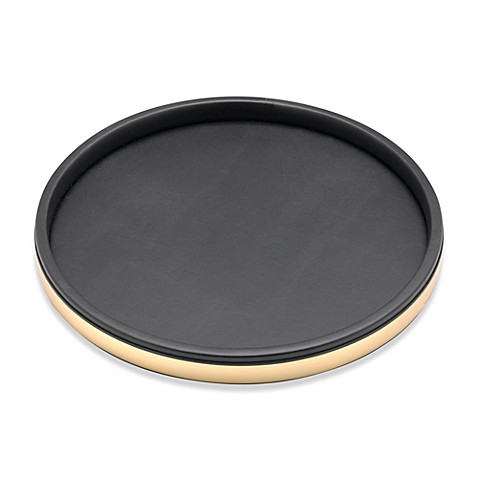 Kraftware™ Sophisticates Deluxe 14-Inch Serving Tray in Polished Gold Trim