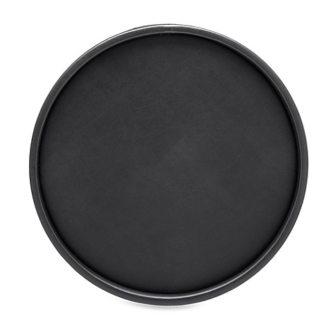 Kraftware™ Soho Deluxe 14-Inch Leatherette Serving Tray in Black