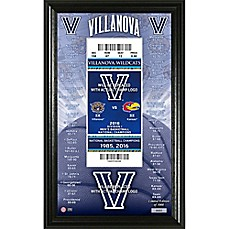 image of Villanova University 2018 NCAA National Champions Men's Basketball Ticket Pano Frame