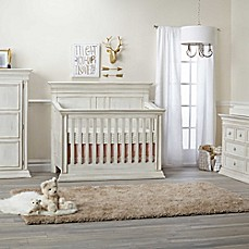 image of Baby Cache Vienna 4-in-1 Convertible Crib in Antique White